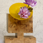"<p><strong><a href=ettore-sottsass.html class=link-lightbox>Ettore Sottsass</a></strong><br />Twenty-seven Woods for a Chinese Artificial Flower</p><p><strong>"" L ""</strong><br />Flower vase in poplar briar AND Murano blown glass.<br />50 x 24 x h. 65 cm.</p><p>Limited edition of 12 signed and numbered pieces.</p>"